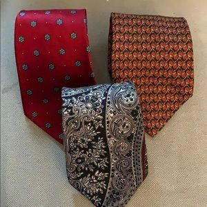 Lot of 4 Men's Ties Christian Dior Brooks Brothers